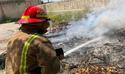 حريق داخل مدرسة في عينطورة
