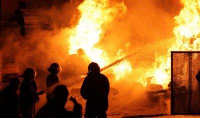 حريق داخل منشرة للاخشاب في بئر العبد