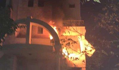 حريق في طيردبا