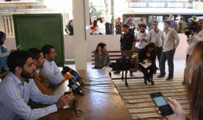 """بالفيديو: أستاذ في """"اللبنانية"""" يعلن الإضراب عن الطعام"""