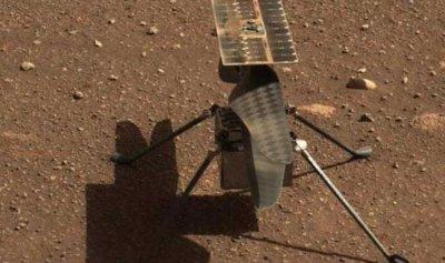 """مروحية """"ناسا"""" تقلع وتهبط فوق المريخ"""