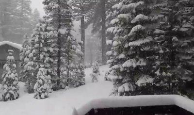 الثلوج غطت قرى قضاء عاليه
