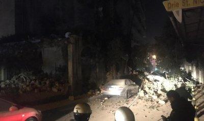 بالفيديو: إنهيار مبنى في الأشرفية