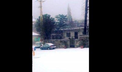 الثلوج تعطل مدارس الشوف الاعلى