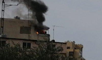 بالصورة: حريق منزل في كرم الزيتون