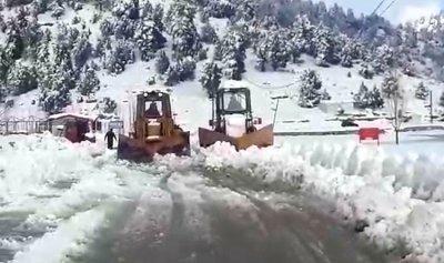 إزالة الثلوج عن طريق عام جرد القبيات