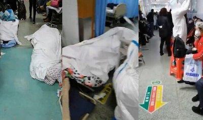 بالفيديو: جثث ضحايا كورونا مرمية في ممرات المستشفيات