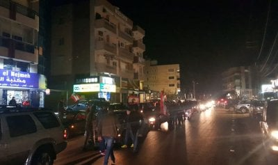 مسيرات سيارة للثوار في الكورة