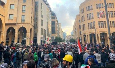 جرحى في صفوف متظاهري بيروت