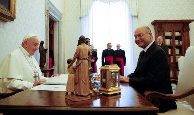 التطورات في العراق بين البابا وبرهم صالح