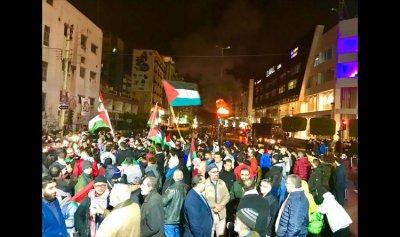 وقفة تضامنية مع فلسطين في صيدا