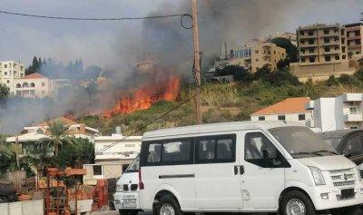 بالفيديو: حريق كبير في حالات