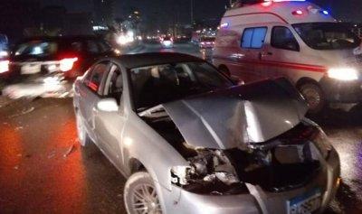 بالصور: حادث سير بين 4 سيارات وشاحنة في صيدا