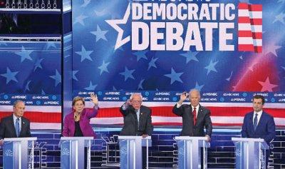 """بالفيديو: مناظرة الديمقراطي تحولت لـ""""حلبة مصارعة"""""""