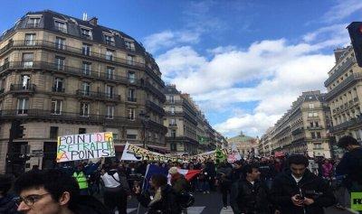 تظاهرات واضرابات في باريس