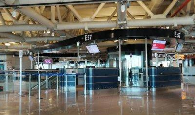 بالصورة: مطار روما خال من المسافرين