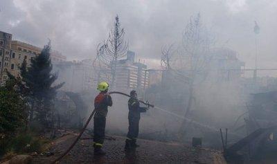حريق عدد من الخيم في رياض الصلح