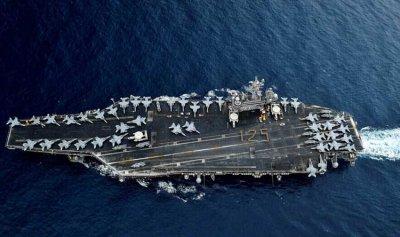 """155 مصاباً على متن حاملة الطائرات """"USS Theodore Roosevelt"""""""