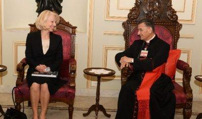 الراعي عرض الاوضاع مع سفيرة فلندا