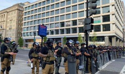 مغادرة الجنود المتبقين في واشنطن