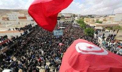 احتجاجات للمطالبة بتنحي الغنوشي في تونس