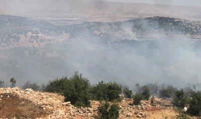 حريق في أحراج الزرازير