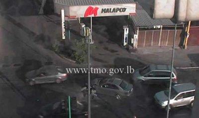 تصادم بين 3 مركبات تحت جسر البيجو