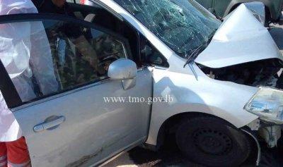 قتيلان وجريحان نتيجة حادث سير في اليرزة