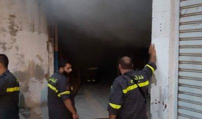 حريق داخل منشرة في الفنار