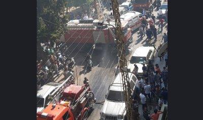 أكثر من 16 حالة اختناق بحريق في أبي سمرا