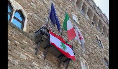 بالفيديو: رفع العلم اللبناني على بلدية فلورنس الإيطاليّة