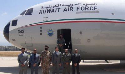 820 طناً من المساعدات الكويتية وصلت بيروت