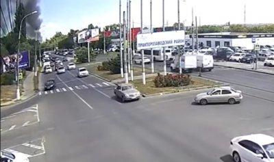 بالفيديو: انفجار محطة وقود في مدينة روسية