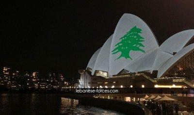 بالصور والفيديو: الأرزة اللبنانية تضيئ سماء سيدني