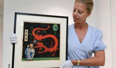 3 ملايين يورو ثمن لوحة لتان تان وكلبه