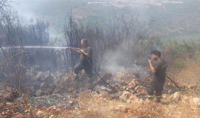 حريق في بلدة سفينة القيطع