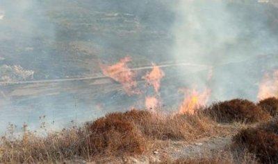 إخماد حريق في ميس الجبل