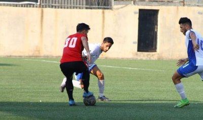 فوز النجمة على الشباب الغازية في دورة نادي العهد