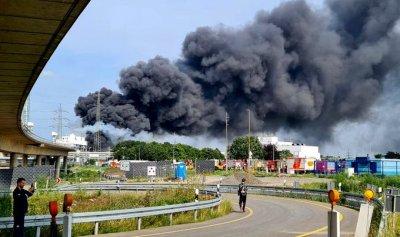 بالفيديو: انفجار ضخم داخل شركة للكيماويات في المانيا