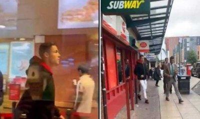 """بالفيديو: رونالدو داخل مطعم """"رخيص"""" للوجبات السريعة"""