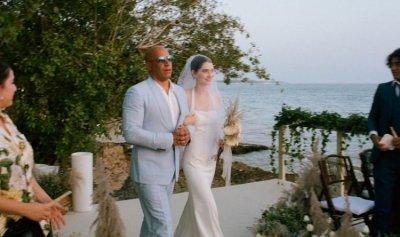 """بالفيديو والصور ـ فين ديزل """"عراب"""" ابنة بول ووكر في زفافها"""