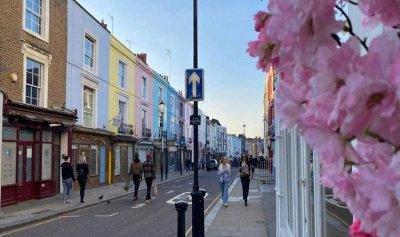 """شوارع """"قوس قزح"""" في لندن"""