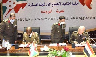 توقيع برتوكول تعاون عسكري مشترك بين مصر وبورندي