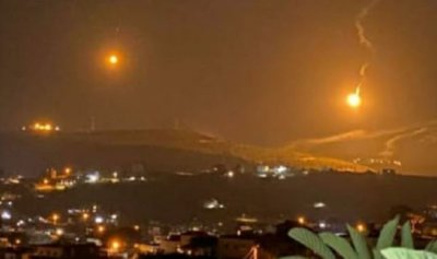 قنابل مضيئة اسرائيلية فوق موقع الرادار