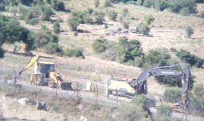 ورشة إسرائيلية على الطريق العسكرية في محور بركة النقار
