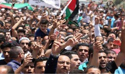 مظاهرة في عمان لطرد السفير الإسرائيلي