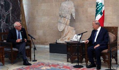 """""""دور الإتحاد الأوروبي في مساعدة لبنان"""" بين عون وبوريل"""
