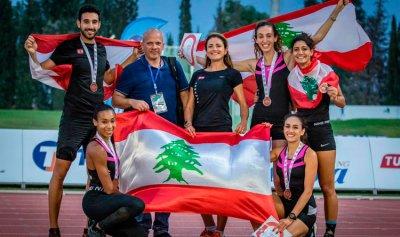 3 ميداليات برونزية للبنان ببطولة العرب لألعاب القوى في تونس