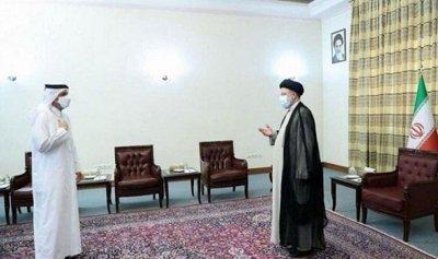 رئيسي يلتقي وزير الخارجية القطري بأول لقاء بعد تنصيبه