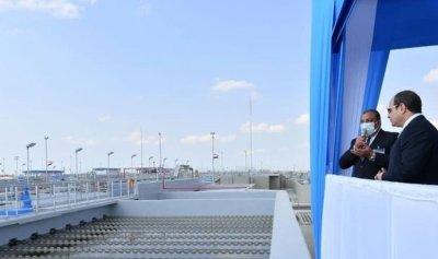 افتتاح أضخم محطة لمعالجة مياه الصرف في مصر